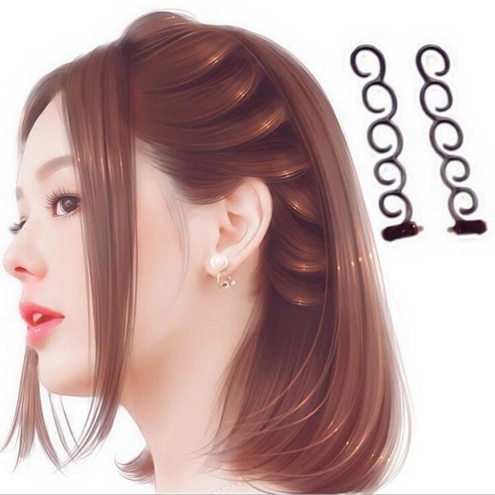 Makyaj şık aracı saç bigudi örgü rulo kanca büküm bandı saç şekillendirici saç aksesuarları kadın moda saç tokası