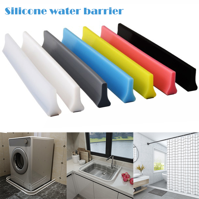Hot 1M Bathroom Water Stopper Water Partition Dry And Wet Separation Flood Barrier Rubber Dam Silicon Water Blocker Don't Slip