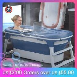 Портативная Ванна Складная Ванна баррель для взрослых Ванна Ванная комната, портативное ведро для душа с большой площадью герметичная изол...