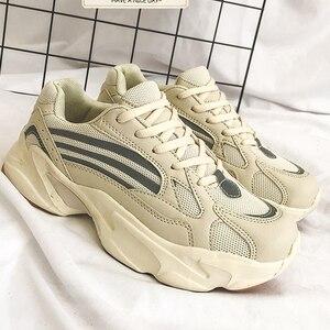 Image 5 - Tenisówki damskie buty na platformie letnie białe kliny trampki damskie trenerzy Chunky Sneakers damskie buty dla taty kosz Femme