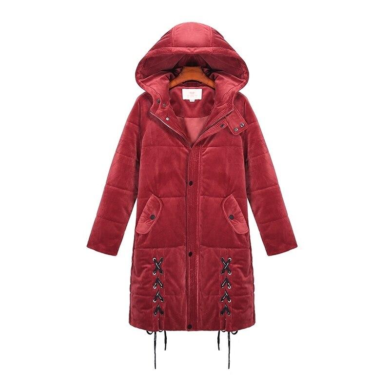 XL-4XL size Large 2020 Winter jacket Women thick Parkas Long Hooded wadded jacket Female Overcoat Abrigos Mujer LX1333
