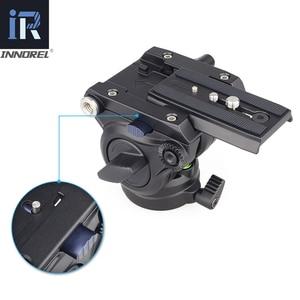 Image 5 - F60/F80 ビデオ流体ヘッドパノラマ油圧眼レフカメラの三脚三脚スライダー調整可能なハンドルマンフロットq.r。プレート