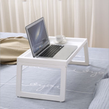 Foldable Laptop Bed Table Lazy Notebook Table Small Dining Table Plastic Simple Dormitory Portable Study Desk Bedroom Mini Table