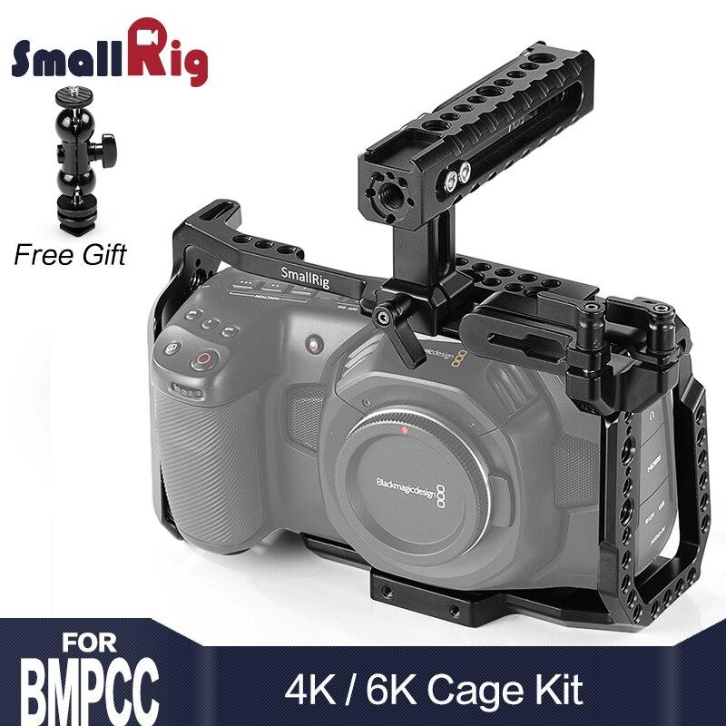 SmallRig BMPCC 4K Cage Kit For Blackmagic Design Pocket Cinema Camera 4K BMPCC 4K / BMPCC 6K Comes With Nato Handle SSD Mount