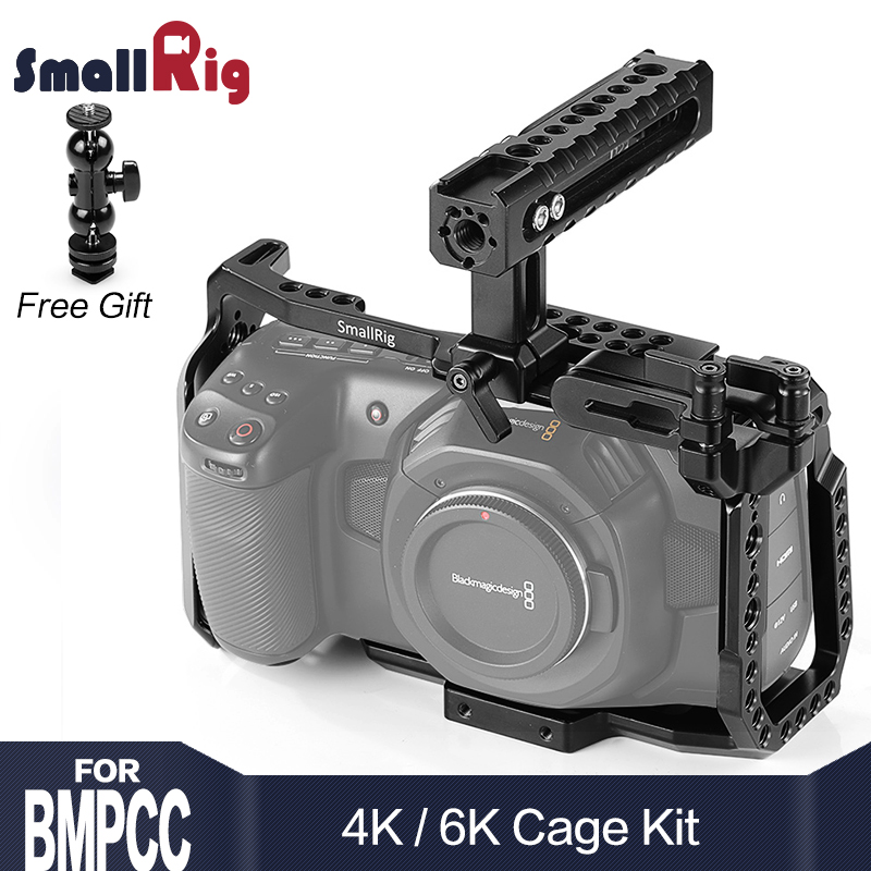 Kit Gaiola para Blackmagic BMPCC SmallRig 4K Projeto Pocket Cinema Camera BMPCC 4 4K K/6 BMPCC K Vem com a Nato Alça SSD Montar