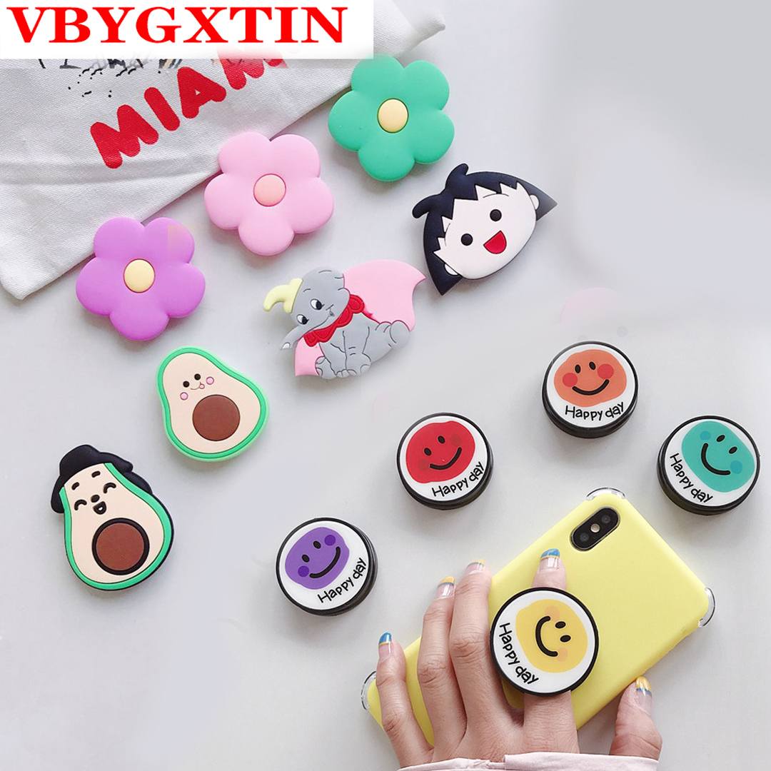 Newed Expanding Stand Finger Ring Holder Cute Smile Pattern Holder Phone Stand Universal Holder Mobile Phone Stand Accessories