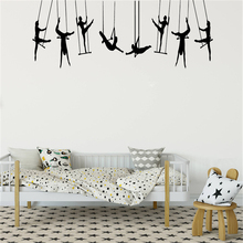 Diy Dance Wall Sticker Room Decoration Accessories For Living Room Vinyl Mural Bedroom Wall Art Decals Commercial adesivi PW502 beauty little girl wall sticker pvc wallstickers wall art wallpaper for kids room decoration waterproof adesivi murali lw588