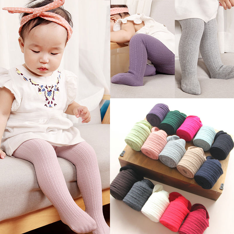 0-6Y Baby Toddler Newborn Girl Cotton Warm Girl Pantyhose Stretch Stockings Kid Children Solid Candy Color Tights 0-6T