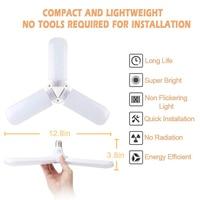 Luzes conduzidas da loja das luzes da garagem deformable 45 w para o porão ja55 da oficina da garagem Ventiladores de teto Luzes e Iluminação -