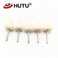 5pcs Mini cone & Cylindrical shape Pads kits microfiber polishing pad for car care felt polishing disc wool felt buffing pads
