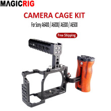 Camera Cage Grip Wooden-Handle MAGICRIG A6300/A6500 To for Protective