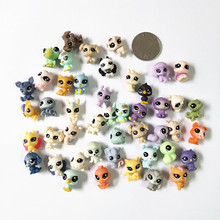 50pcs/bag 1-2cm Little Pet Cute Animal Doll PVC Rabbit Horse dog cat birds mini shop Action Figure Kids Toy Girl Collection Gift