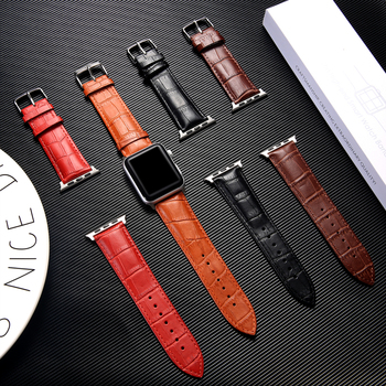 Strap for Apple watch band 38mm 42mm Genuine Leather watchband correa iwatch band 44mm 40mm series 5 4 3 2 1 bracelet wrist belt