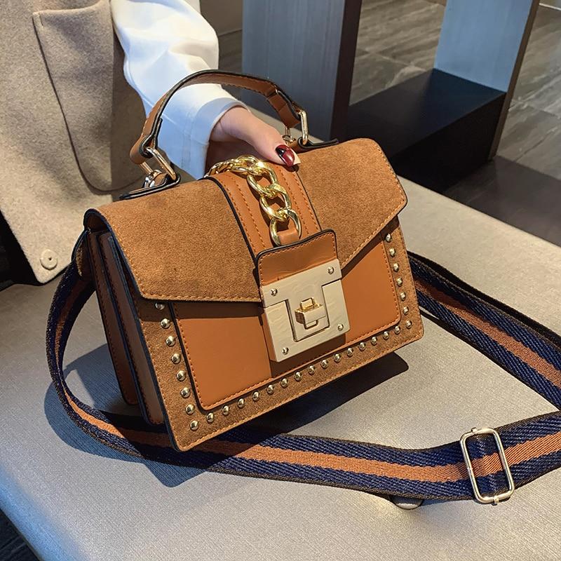 2020 Брендовые женские сумки, роскошные сумки, женские сумки мессенджеры, Сумка с заклепками, модная женская сумка на плечо, женские Сумки из искусственной кожи|Сумки с ручками|   | АлиЭкспресс