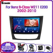 Android 10 2Din Car Radio  for Mercedes Benz E-class W211 E200 E220 E300 E350 E240 CLS 2002-2010 Multimedia Video Player 4G DVD