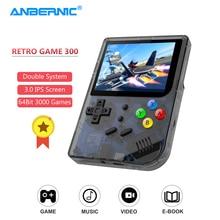 ANBERNIC-جديد RG300 الرجعية لعبة وحدة IPS شاشة 3000 ألعاب الفيديو 32G TF مزدوجة نظام RG 300 المحمولة المحمولة Consola لاعب