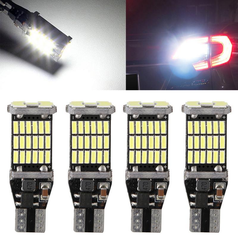 T15 W16W LED 921 912 Super Bright 45 SMD 4014 LED Canbus No ERROR Car Backup Stop Reserve Light Brake Lamp 12V Signal Lamp TSLM2
