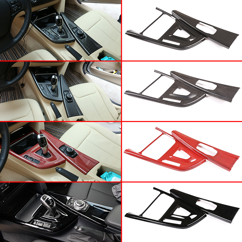ABS Center Console Gear Shift Decoration Frame Trim Accessories For BMW 3 Series GT F30 F33 F34 F36 2013-2019 Left Hand Drive
