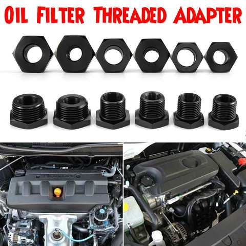 1/2pcs Steel Aluminum Car Oil Filter Adapter 1/2-28 /5/8-24 to 3/4-16 /13/16-16 /3/4 NPT Threaded Automotive for STP S3600 Pakistan