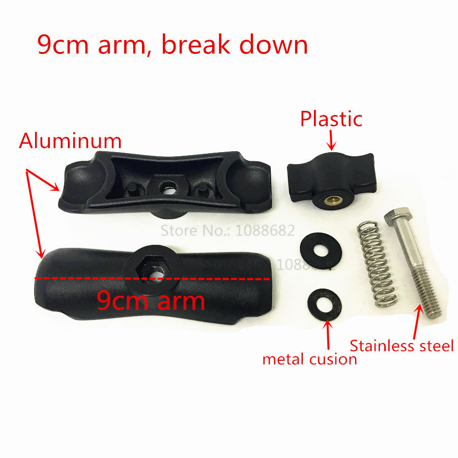 9cm Double Socket Arm 1 Inch Ball Mount (5)