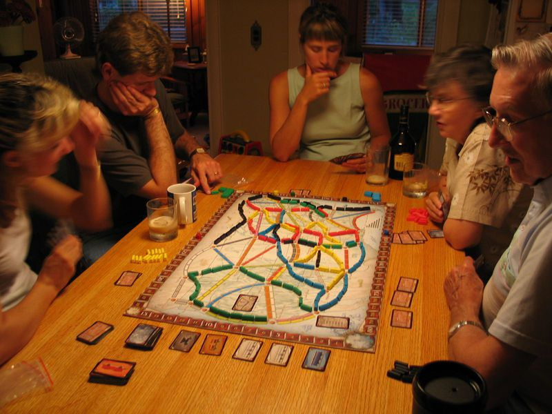 Ticket To Ride Train Adventure Board Game Party Summer Holiday Gift  American And Europe