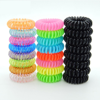 10PCS/Lot Small Telephone Line Hair Ties Girls Elastic Tie Candy Color Ponytail Holder Kids Children Accessories
