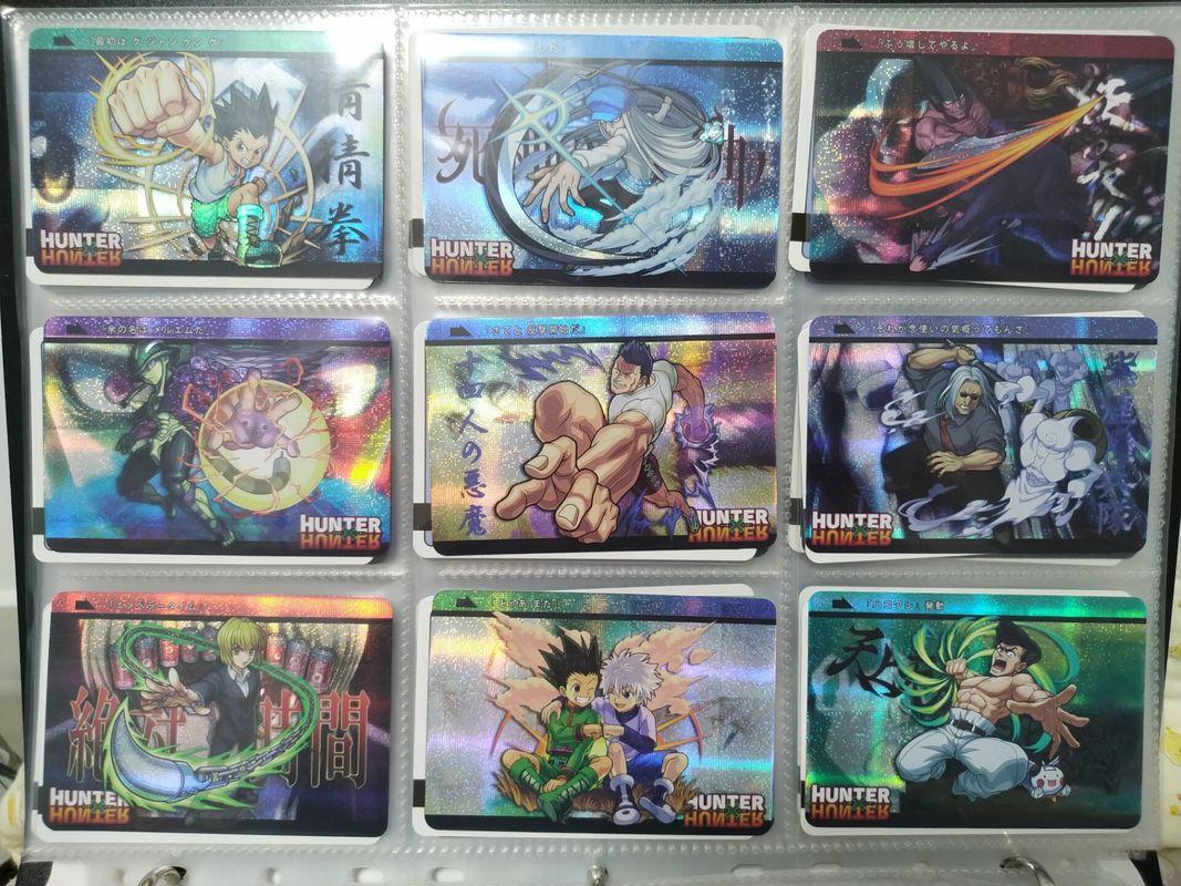 18pcs/set HunterxHunter HxH Phantom Troupe Skill Versus War Hisoka Kurapika Killua Zoldyck Game Collection Card Free Shipping