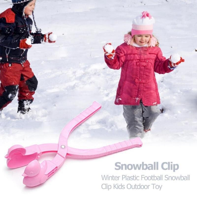 Dessin animé canard boule de neige fabricant Clip enfants Sports de plein air d'hiver neige sable moule lutte Sport de plein air outil jouet Sport enfants jouet