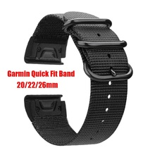 Quick Fit Nylon Watch Band for Garmin Fenix 5X /5X Plus/Fenix 3/3 HR 5 5S Plus Sport Wrist band 20/22/26 mm size strap