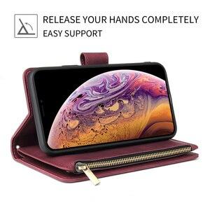 Image 2 - SE 2020 di Vibrazione di Lusso Della Cassa Del Raccoglitore per Il IPhone 11 Pro Max X XS Max XR 6 6s 7 8 più il Sacchetto Della Copertura Del Telefono del Cuoio della Carta Magnetica SE2020