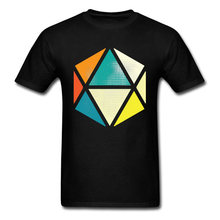 Icon Tees Geometry Triangles Figure Patterns T-shirts Euclid 100% Kazakhstan Mens Printing Tee-Shirts For College Student Best(China)