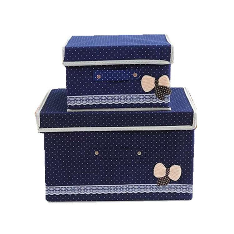 Fashion and durable praise non woven storage box large folding storage box underwear storage box organizer container in Storage Boxes Bins from Home Garden