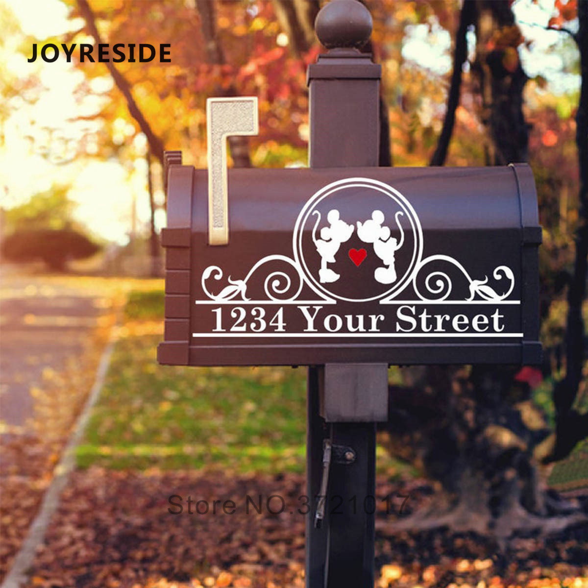 Mailbox Decoration Sticker Custom Personalized Address Mail Boxes Art Decor Design Decals Stickers Vintl Removable Decals M494 Wall Stickers Aliexpress