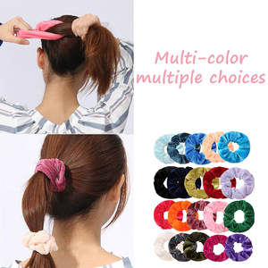 JAYCOSIN 1 Pcs Velvet Elastic Hair Bands For Women Tie Hair Ring Rope Ponytail Holder Headdress Scrunchie Hair Bands For Girls