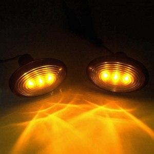 Image 4 - 페어 자동차 LED 사이드 마커 표시기 리피터 라이트 옐로우 턴 신호 경고 램프 미니 R55 용 방수 R56 R57 R58 R59 R60