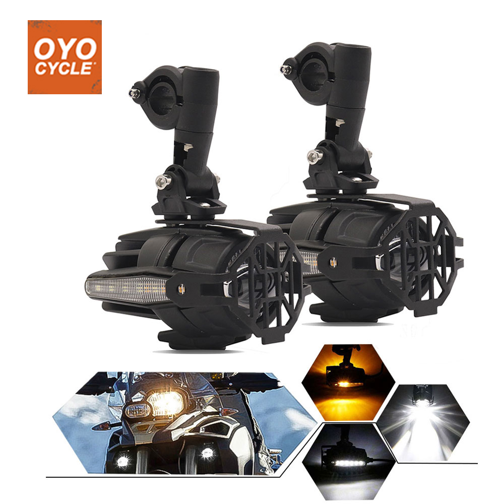 Motorcycle LED Auxiliary Spot Fog Turn Signal Light Assemblie Driving Lamp 40W For BMW R1200GS ADV F800GS F700GS F650GS K1600
