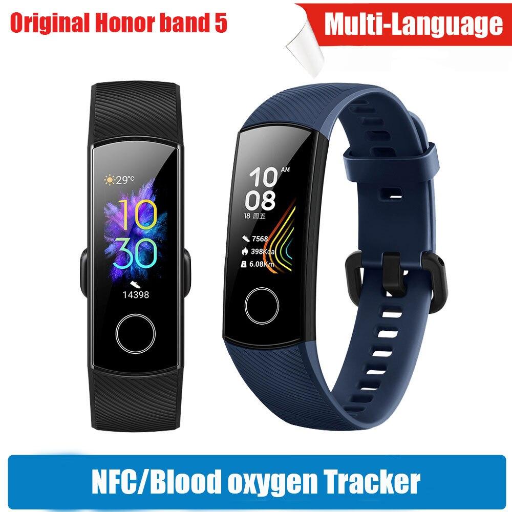 Oxímetro de Huawei Honor 5 Banda Inteligente Pulseira NFC Magic Touch Screen Cor Curso de Natação Detectar a Frequência Cardíaca Sono Cochilo