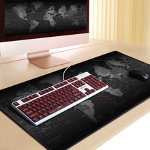 Large Gaming Mouse Pad World Map Pro Mouse Pad Computer Mouse Mat Anti-slip Rubber Base Office Desk Mat Keyboard Pad Mause Pad(China)