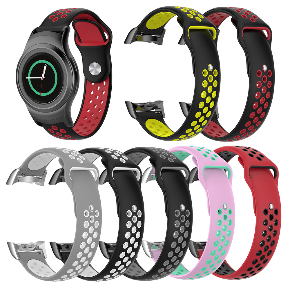 BEHUA Band For Samsung Gear S2 R720 Smartwatch Strap Replacement Silicone Sport Watchband Straps Smart Wristband With Connectors