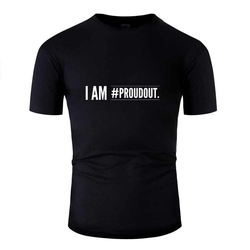 Novedad que soy Proudout T Shirt para hombres 2020 negro divertido de la ciudad de #2 chico niña camisetas 100% de algodón de talla grande S-5xl camiseta Hiphop