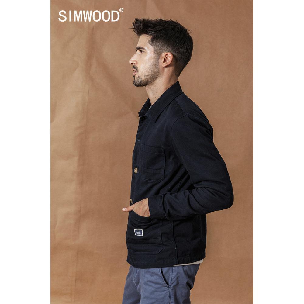 SIMWOOD Autumn Cargo Jacket Fashion 100% cotton jackets high quality outwear brand clothing plus size coats SI980592