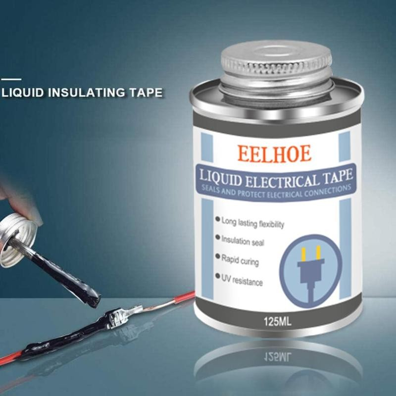 125ml Liquid Insulating Electrical Tape Insulating Electronic Sealant Fixed High Temperature Resistant Sealing Glue Waterproof