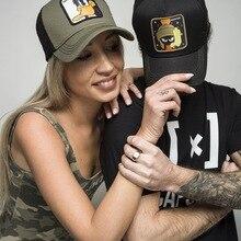 Fashion Embroidery Animal Baseball Caps Men Breathable Mesh Snapback Caps Unisex Sun Hat For Women bone Casquette Hip Hop cap цена