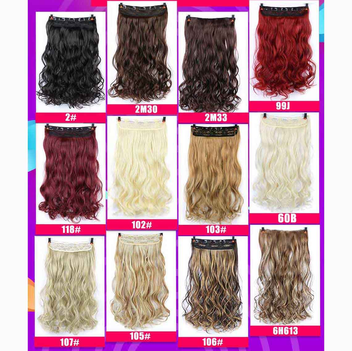 Allaosify Long Straight Women Clip In Hair Extensions Black Brown High Tempreture Synthetic Hair Pieces Ombre Hair Extensions