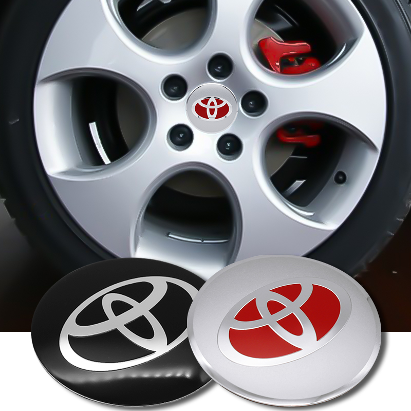 4PCS 56mm Car Styling Tire Wheel Center Hub Caps Covers Sticker For Toyota Chr Corolla Auris Avensis T25 Yaris Rav4 Accessories