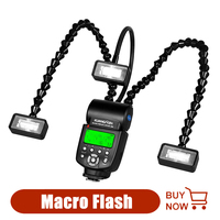 KR888 Macro Flash LED Macro Flash Speedlite For Canon Nikon Panasonic Olympus Pentax Sony DSLR Speedlight Speedlite