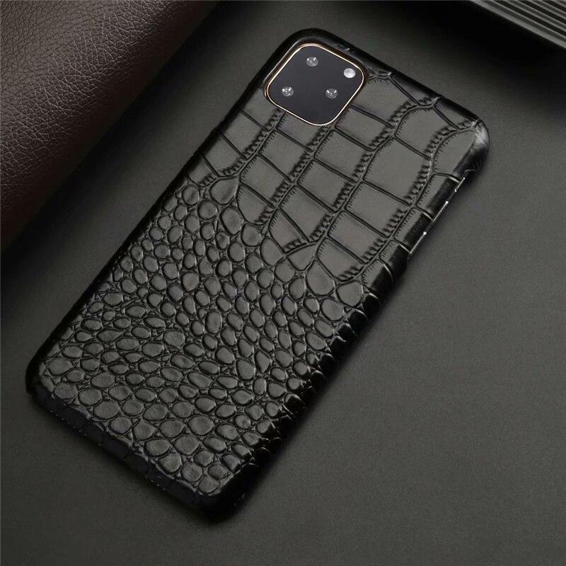 Genuine Leather Crocodile Grain Case for iPhone 11/11 Pro/11 Pro Max 8