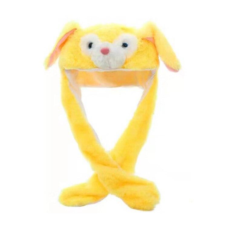 Kocozo, шапка кролика, подвижные уши, милая мультяшная игрушка, шапка, подушка безопасности, Kawaii, забавная шапка-игрушка, Детская плюшевая игрушка, подарок на день рождения, шапка для девочек - Цвет: Yellow Dog