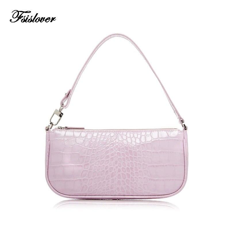 Retro Alligator Pattern Women Messenger Handbags Designer Ladies Shoulder Bags French Woman Elegant Women Bag Bolsas Feminina
