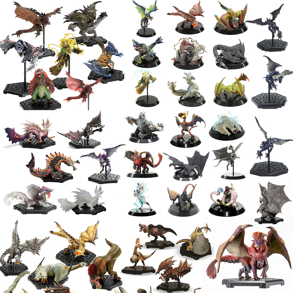 Hot Japan Anime Monster Hunter World Monster Figure PVC Models Hot Dragon Action Figures Model Toys Collection Gifts